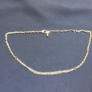 Silver 3-Layer Short Necklace